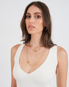 ARMS OF EVE - BOCA GOLD STACKING CHAIN NECKLACE