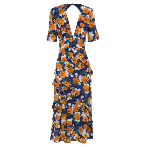 RAE26 - Farrah Dress (Painterly Floral)