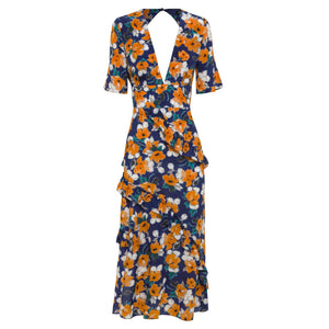 RAE26 - Farrah Dress (Painterly Floral) - Australian Fashion and Accessories Boutique - Faid Store