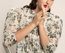 Load image into Gallery viewer, PALMA MARTÎN- Unsheathed Pleated Blouse (Garden Floral) - Australian Fashion and Accessories Boutique - Faid Store