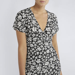 RAE26 - Gemma Dress (Noir Silhouette Floral) - Australian Fashion and Accessories Boutique - Faid Store