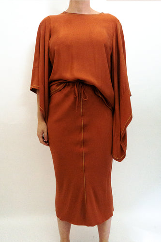 BAZ INC. - Burnt Orange Skirt - Australian Fashion and Accessories Boutique - Faid Store