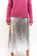 Load image into Gallery viewer, BAZ INC. - Silver Sequin skirt - Australian Fashion and Accessories Boutique - Faid Store
