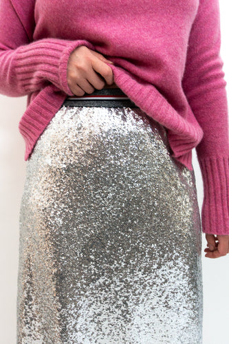 BAZ INC. - Silver Sequin skirt - Australian Fashion and Accessories Boutique - Faid Store