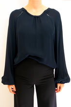 Load image into Gallery viewer, BAZ INC. - Navy Blue Blouse - Australian Fashion and Accessories Boutique - Faid Store