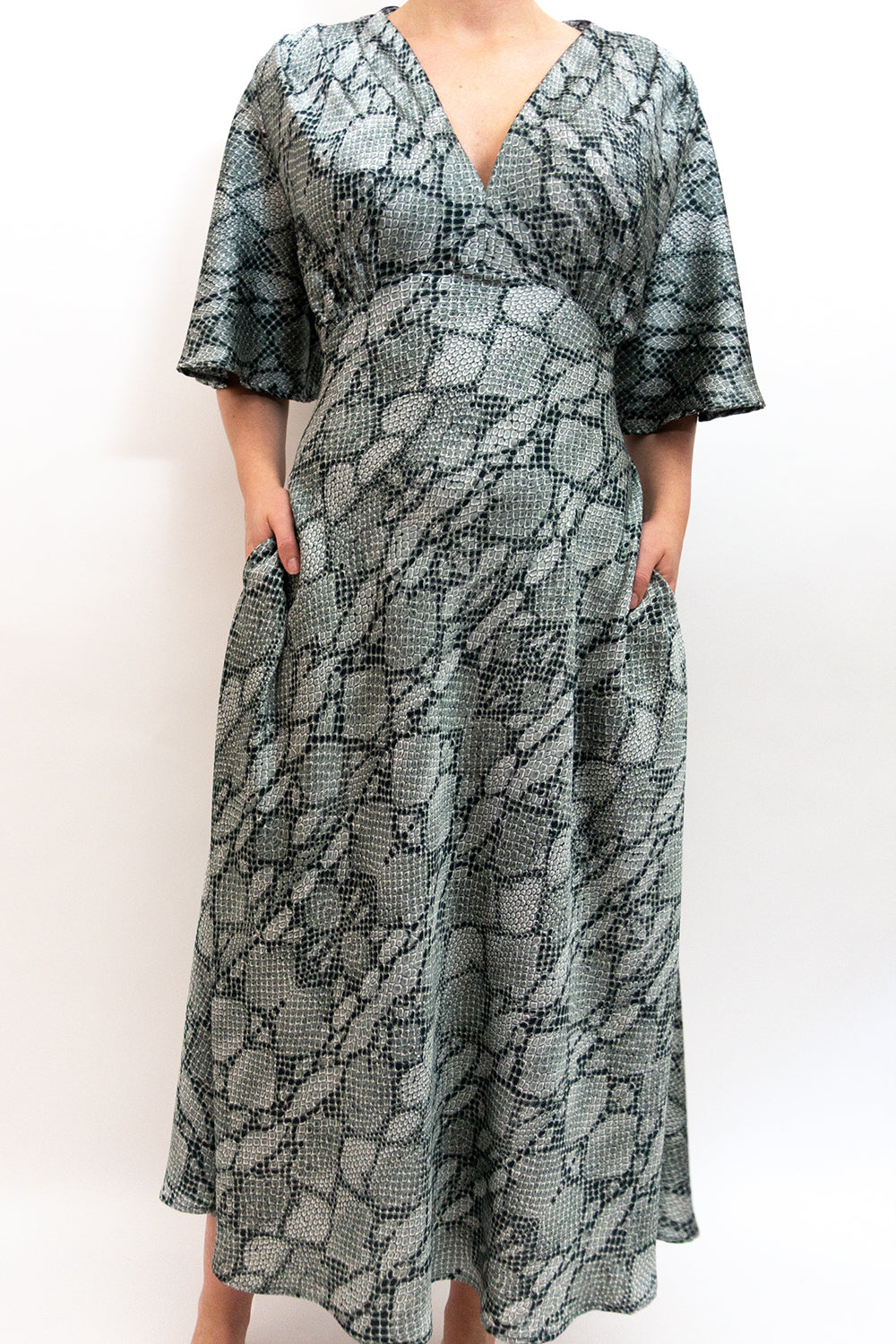 BAZ INC. - Snake Skin Print Dress - Australian Fashion and Accessories Boutique - Faid Store