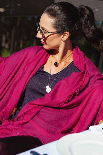 EVERYDAY CASHMERE - Supersoft Cashmere Scarf (Dark Pink)