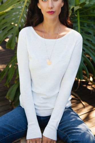 EVERYDAY CASHMERE - Boat Neck Cotton - Australian Fashion and Accessories Boutique - Faid Store
