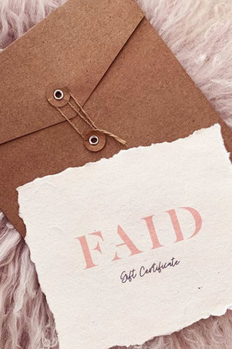 Faid Gift Card - Australian Fashion and Accessories Boutique - Faid Store