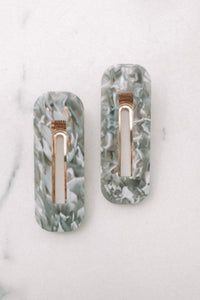 MISS LIPPY - Middle Sister Duo (Grey and White) - Australian Fashion and Accessories Boutique - Faid Store