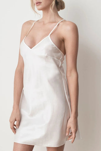 MS KENSINGTON - Silk Slip Dress - Ivory White - Australian Fashion and Accessories Boutique - Faid Store