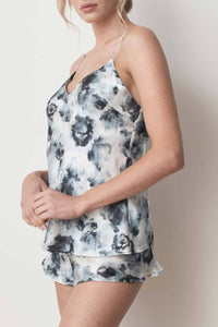 MS KENSINGTON- Silk Camisole - London Print - Australian Fashion and Accessories Boutique - Faid Store
