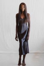 Load image into Gallery viewer, MS KENSINGTON - Midi Silk Slip - Charcoal - Australian Fashion and Accessories Boutique - Faid Store