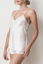 Load image into Gallery viewer, MS KENSINGTON - Silk Cotton Camisole - Ivory White - Australian Fashion and Accessories Boutique - Faid Store