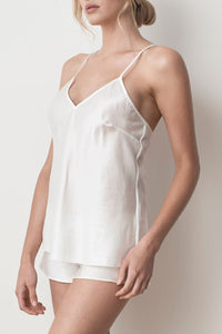 MS KENSINGTON - Silk Cotton Camisole - Ivory White - Australian Fashion and Accessories Boutique - Faid Store