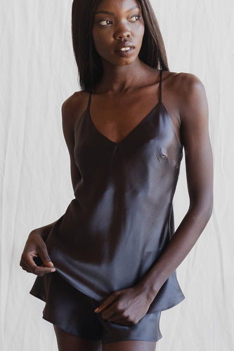 MS KENSINGTON - Silk Cami - Charcoal - Australian Fashion and Accessories Boutique - Faid Store