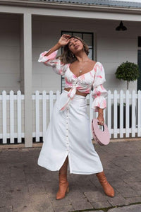 SILK WOLFE - Off The Shoulder Daisy Top - Australian Fashion and Accessories Boutique - Faid Store