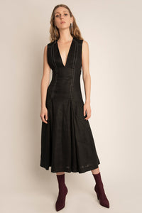 PALMA MARTÎN - Flaunt Stud Pleat Dress - Australian Fashion and Accessories Boutique - Faid Store