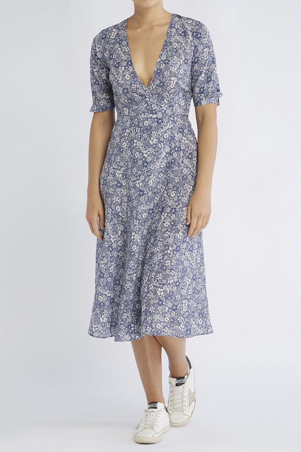 RAE26 - Annika Dress (Linear Floral) - Australian Fashion and Accessories Boutique - Faid Store