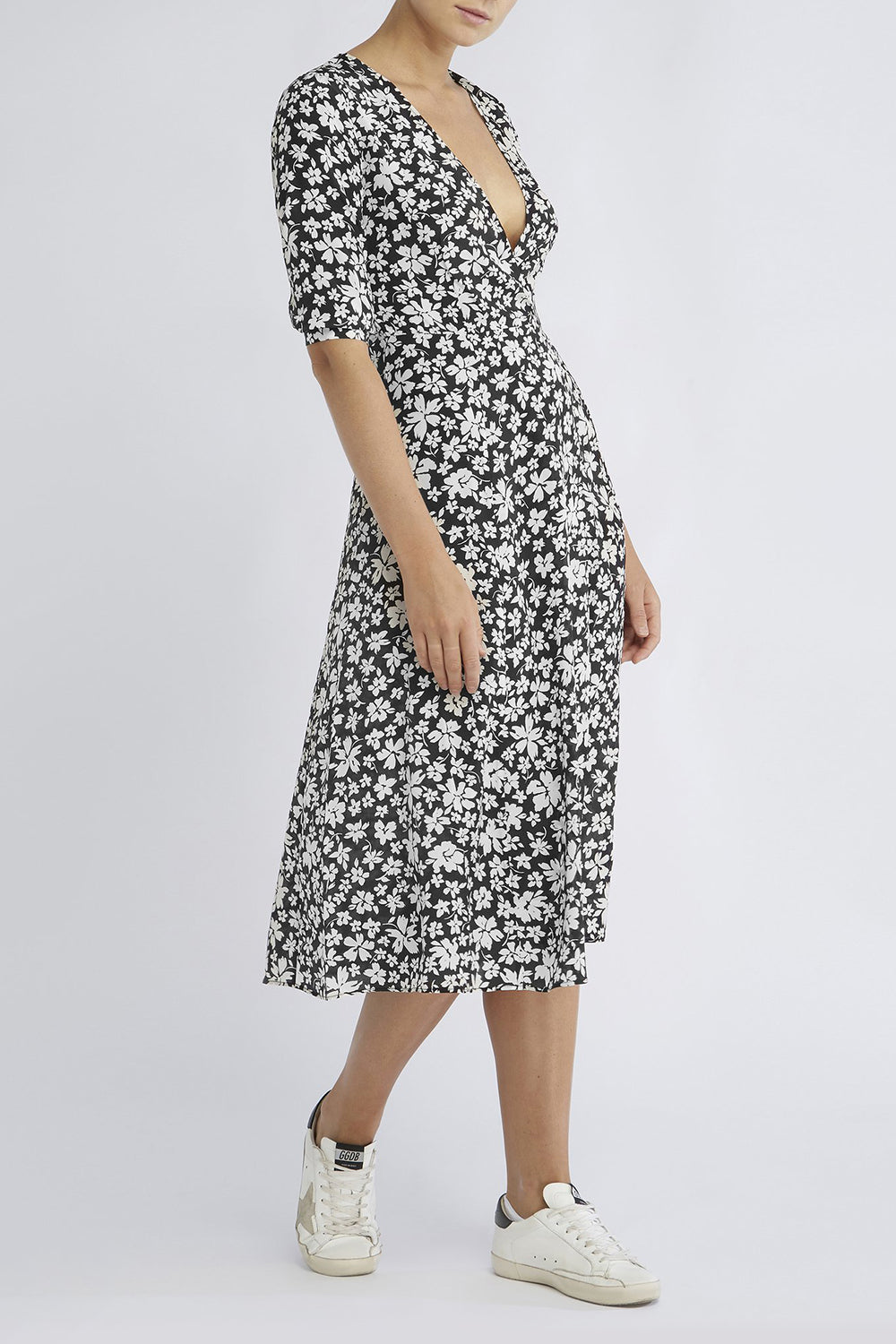 RAE26 - Annika Dress (Noir Silhouette Floral) - Australian Fashion and Accessories Boutique - Faid Store