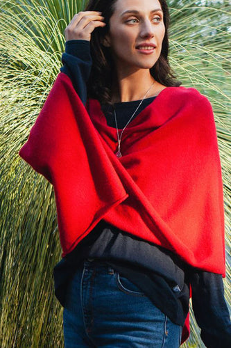 EVERYDAY CASHMERE - The Shrug (Red)