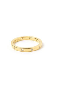 ARMS OF EVE - Roca Gold & Zircon Stacking Ring - Australian Fashion and Accessories Boutique - Faid Store
