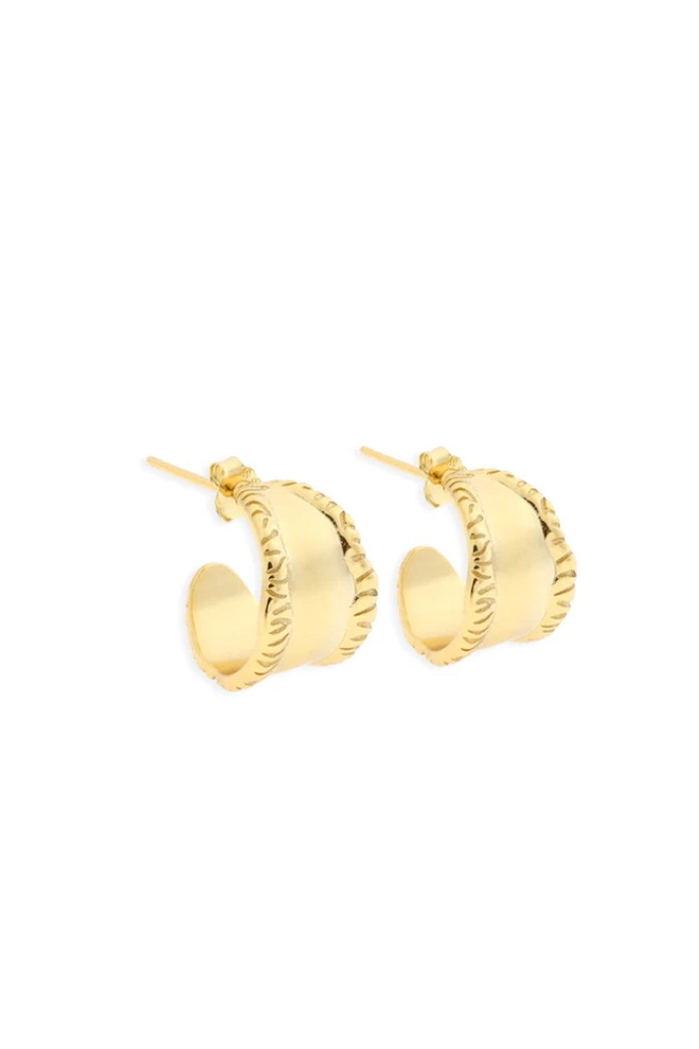 ARMS OF EVE - Mia Gold Hoops - Australian Fashion and Accessories Boutique - Faid Store