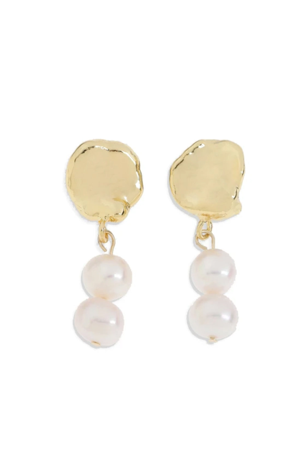 ARMS OF EVE - Toulouse Pearl Drop Gold Earrings - Australian Fashion and Accessories Boutique - Faid Store