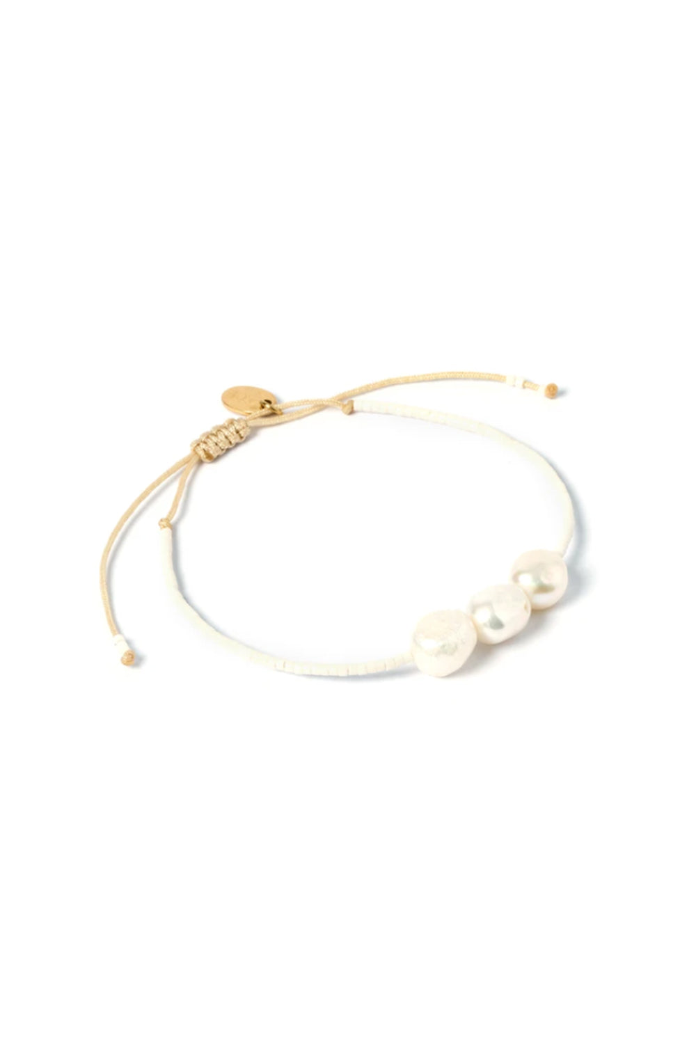 ARMS OF EVE - Serena Gold and Pearl Bracelet - White
