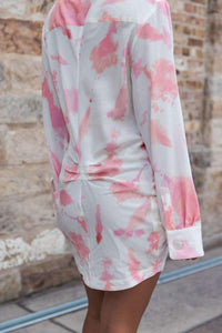 SILK WOLFE - Smell The Roses Shirt Dress - Australian Fashion and Accessories Boutique - Faid Store