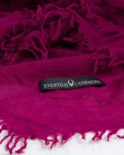 Load image into Gallery viewer, EVERYDAY CASHMERE - Supersoft Cashmere Scarf (Dark Pink)