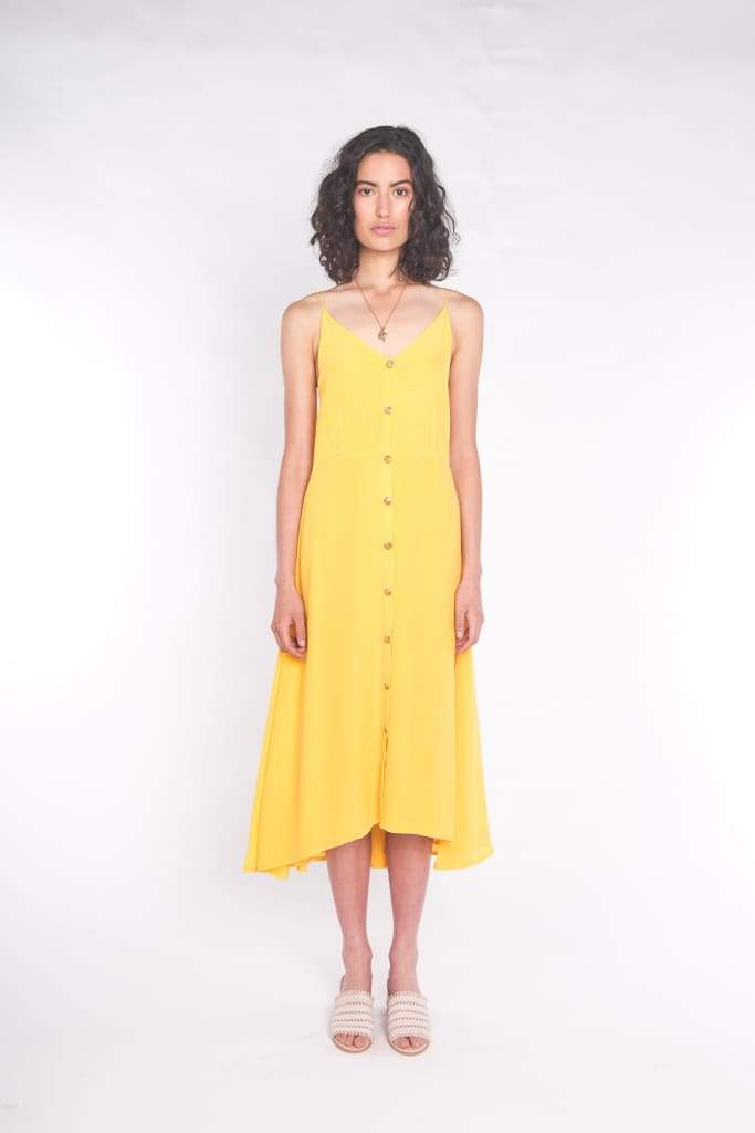 SILK WOLFE - The Accalia Maxi Dress Sun Yellow - Australian Fashion and Accessories Boutique - Faid Store