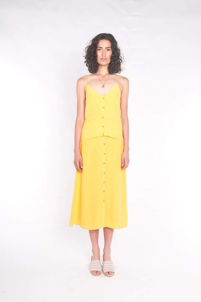 SILK WOLFE - The Luna Maxi Skirt Sun Yellow - Australian Fashion and Accessories Boutique - Faid Store