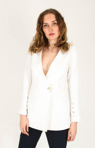 CEDAR & ONYX - Icer White Blazer - Australian Fashion and Accessories Boutique - Faid Store