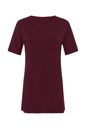 CEDAR & ONYX - Where Have You Been... Bamboo T-shirt (Wine) - Australian Fashion and Accessories Boutique - Faid Store