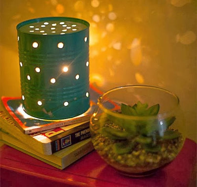Make a lamp with a recycled tin can - DIY