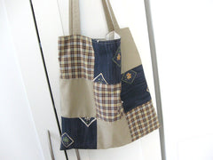 Sewing tutorial: Make a patchwork tote bag with reclaimed fabric
