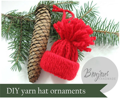 Make mini hats Christmas ornaments