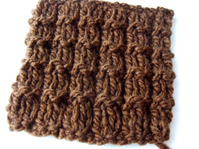 Easy knitting stitch: the waffle stitch knitting pattern
