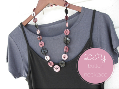 Make a necklace with vintage or thrifted buttons