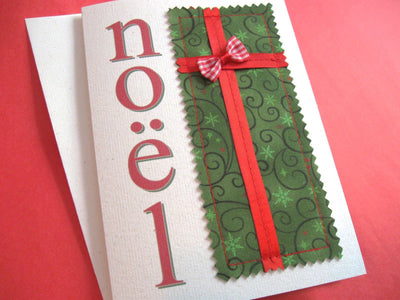 Pretty fabric Christmas cards – free printable and tutorial