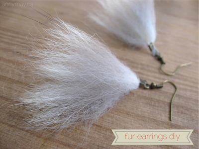 DIY tutorial: Making earrings and a necklace using recycled fur