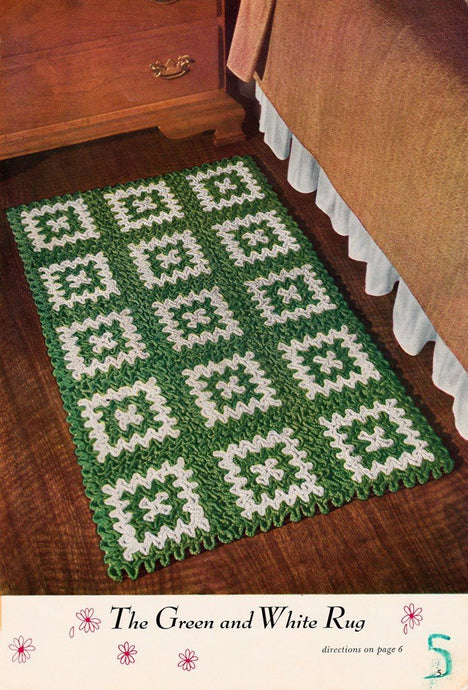 Free vintage crochet rug patterns