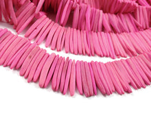 Load image into Gallery viewer, Pink Wood Stick Beads - coconut indian stick 1 1/8 inch - full strand