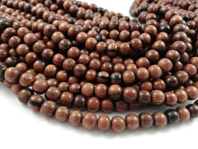 Load image into Gallery viewer, Exotic Tiger Camagong wood round beads - Natural Wooden Beads 8mm - 50pcs