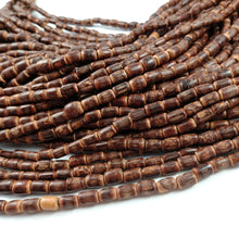 "Load image into Gallery viewer, Sigid Vine Wood Tube Beads 9mm - Eco Friendly Tube Beads 9mm - 16"" strand"