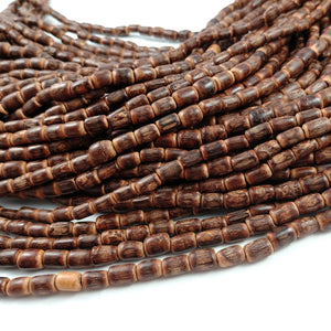 "Sigid Vine Wood Tube Beads 9mm - Eco Friendly Tube Beads 9mm - 16"" strand"
