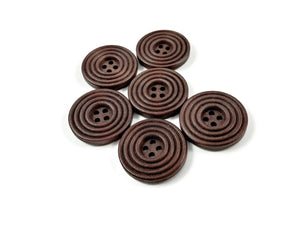 1 inch wooden sewing buttons 25mm - Set of 6 circle wood button - Choose your color