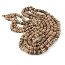 Load image into Gallery viewer, Natural Coco wood Beads - Eco Friendly Donuts Rondelle Disk Beads 8mm - 100pcs