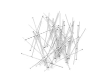 Load image into Gallery viewer, Stainless steel flat head pins - 30, 40 or 50mm - Hypoallergenic jewelry findings